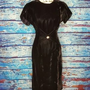 Vintage Leslie Fay Velvet Evening Dress